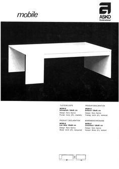 Eero Aarnio Mobile sohvapöytä
