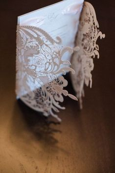 The Great Gatsby Lace Wedding Invitation   by RoyalStyleWeddings