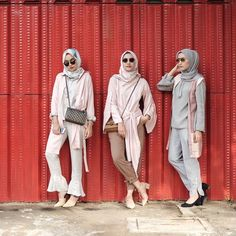 ideas style hijab lebaran 2018 for 2019 Street Hijab Fashion, Abaya Fashion, Modest Fashion, Trendy Fashion, Girl Fashion, Trendy Style, Fashion Outfits, Simple Hijab, Casual Hijab Outfit