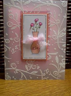 Sweet Vellum Card using Stampin Up Vases in Vogue and beads