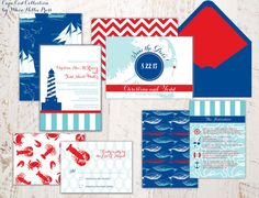 Wedding Invitations-Cape Cod/Maine/Lighthouse/Beach/Seashore Invitations