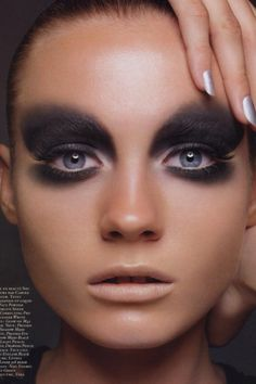 Editorial #makeup #mua #makeupartist #smokeyeye #nudelip #editorial #dressyourface #makeuplovers