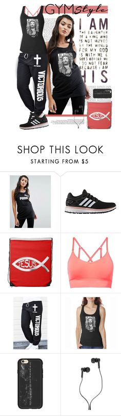 """""""My Identity is in Christ's Victory"""" by spicedblossom on Polyvore featuring Puma, adidas, MANGO, La Femme, Los Angeles Pop Art, Casetify and Master & Dynamic"""