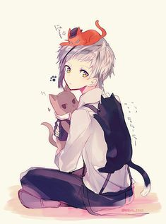 Cute anime pictures of chan with and without ears FO … – Art Ideas Bungou Stray Dogs Wallpaper, Dog Wallpaper, Stray Dogs Anime, Bongou Stray Dogs, Vocaloid, Bungou Stray Dogs Atsushi, Best Pet Insurance, Image Manga, Fan Art