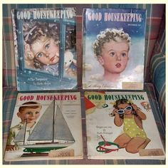 Four 1946-47 Post WWII Good Housekeeping Magazines from timemachinecollectibles on Ruby Lane