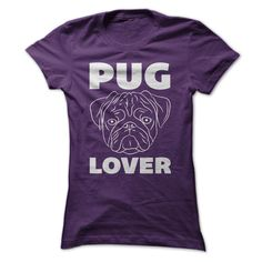 Pug Lover T-Shirts, Hoodies. BUY IT NOW ==► https://www.sunfrog.com/Pets/Pug-Lover-T-Shirt-Purple-53729466-Ladies.html?id=41382