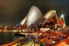 Unmistakebly great architecture : Sydney opera house at night, Australia Beautiful Places In The World, Places Around The World, Oh The Places You'll Go, Places To Travel, Places To Visit, Around The Worlds, Amazing Places, Amazing Photos, Travel Destinations
