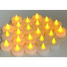 Instapark LCL Series Battery-powered Flameless LED Tealight Candles, Pack of 24 for $12
