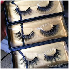 """@makeupbyjenm on Instagram: """"Thank you to @acebeaute for this generous care package of their mink and silk lashes! Top to bottom: """"Chloe"""", """"Daphnie"""" and """"Pandora""""."""""""