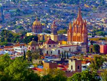 Cultural & Artisanal Mexico, San Miguel de Allende When one dreams of Mexico—of cobblestone streets, warm sunsets and brilliant colors—one dreams of San Miguel de Allende, the city of artists, antiques and baroque architecture. Join us for a four-day experience that encompasses history, nature, hiking, farm-to-table dining and cooking, temazcal, spa and more.