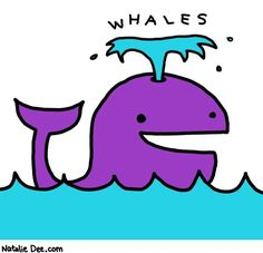 Comic by Natalie Dee: whales