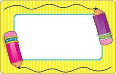 Resultado de imagen para gafetes para niños…