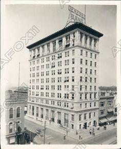 1922 Flint Michigan Genesee County Savings Bank Building Press Photo