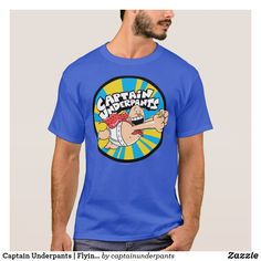 Captain Underpants | Flying Hero Badge. Producto disponible en tienda Zazzle. Vestuario, moda. Product available in Zazzle store. Fashion wardrobe. Regalos, Gifts. Trendy tshirt. #camiseta #tshirt