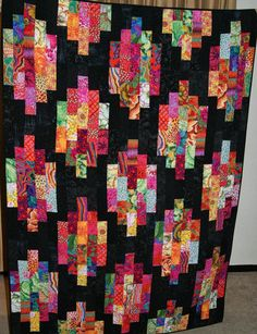 Several years ago I received a jelly roll of Kaffe Fassett brights. I looked for just the right quilt pattern and finally found it at the...