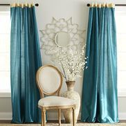Living room: Hamilton Curtain - Gilded Teal
