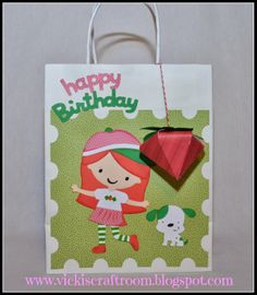 Vicki's Craft Room; Strawberry Shortcake gift bag