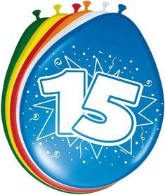 Ballonger - 30cm - 15 år #Bursdagsballonger Unicorn Balloon, Number Balloons, Balloon Arch, Balloon Garland, Lego Ninjago, Happy Birthday Balloons, 75th Birthday, Colourful Balloons, Birthday
