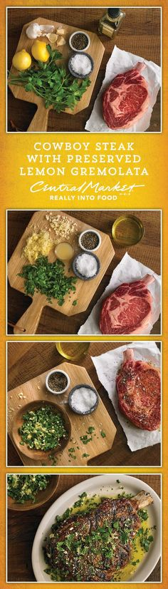 This recipe is nothing short of a show stopper! A giant steak with perfectly crusty outside, pink inside, and bathed in the bright flavors of a gremolata.