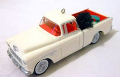 1955 Chevrolet Cameo Pickup, #2 in the All American Trucks Series Hallmark Ornament, 1996 - I have this one.