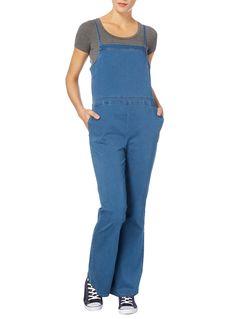 Womens Denim Vintage Wide Leg Jumpsuit   Tu clothing
