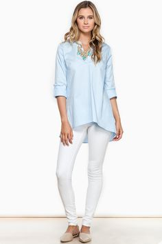 Heart To Heart Blouse / Shop Sosie #blouse #high #low #hem #button #sleeves #mandarin #collar