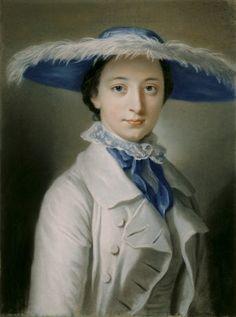 Miss Vernon, attributed to William Hoare of Bath. circa 1760s