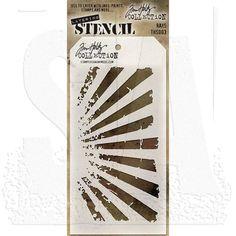 lot of 5 Tim Holtz stencils CLOCKWORK MEASURED RAYS BURLAP CARGO