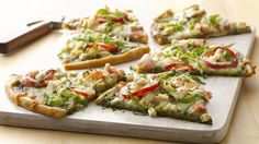 Gluten-Free Pesto Pizza Best Appetizers for your super bowl from a round up on Feed Your Soul Too.