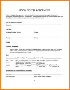 Spare room tenancy agreement pdf