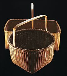 "Martha Weatherbee Shaker Baskets ""Tis the gift to be simple, tis the gift to be free. Old Baskets, Vintage Baskets, Rattan, Wicker, Nantucket Baskets, Nantucket Island, Shaker Furniture, Antique Show, Shaker Style"