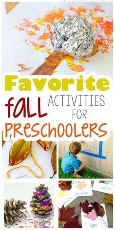 Favorite Fall Activities for Preschoolers