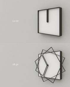 horloge originale idee deco home maison How cool is this clock? Cadre Design, Cool Clocks, Cool Inventions, Deco Design, Design Design, Design Trends, Cool Gadgets, Industrial Design, Home Accessories