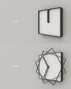 フレームが回転する不思議な時計【FLAME】