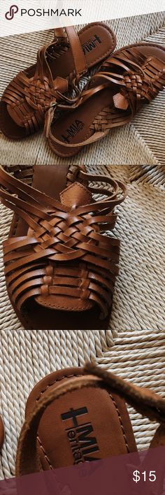Brand New MIA heritage Huarache Sandals Adorable MIA heritage huarache sandals in women's size 7. Never worn and brown leather. Comment questions!❤️ Free People Shoes Sandals