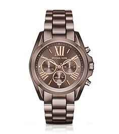 Oversized Bradshaw Rose-Gold-Tone Sable Watch by Michael Kors