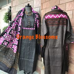 Punjabi Suits, Salwar Suits, Dress Neck Designs, Indian Designer Wear, Ikat, Cotton Dresses, Printing, Textiles, Clothes For Women