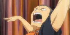 tanaka's face. Kageyama, Hinata, Tanaka Haikyuu, Volleyball Clubs, Haruichi Furudate, Little Giants, Karasuno, The Only Way, Vows