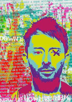 Thom Yorke, Radiohead, Limited edition, Print, Urban, Street art, Art Print on…