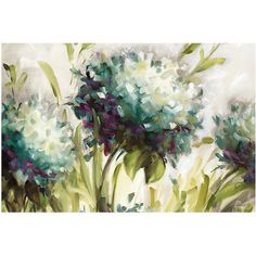 Hydrangea Flower Gallery Art- 30x40 in. ❤ liked on Polyvore featuring home, home decor and wall art