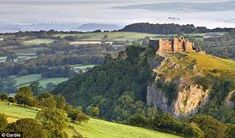Carreg Cennen Castle at dawn on misty summer morning Brecon Beacons National Park, Carmarthenshire,Wales Welsh Castles, Castles In Wales, Carreg Cennen Castle, Castles To Visit, Brecon Beacons, Wanderlust, Thing 1, Days Out, Great Britain