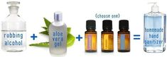 You can make your own hand sanitizer by mixing three parts of rubbing alcohol and one part of aloe vera gel. You can add some essential oils if you want it to be scented. 40 Uses For Rubbing Alcohol In The House House Cleaning Tips, Diy Cleaning Products, Cleaning Hacks, Rubbing Alcohol Uses, Limpieza Natural, Fun To Be One, How To Make, Aloe Vera Gel, Hand Sanitizer