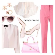 """""""Color Me Pretty: Head-to-Toe Pink"""" by dressedbyrose ❤ liked on Polyvore featuring Ermanno Scervino, Rhea Costa, RED Valentino, STELLA McCARTNEY, Dolce&Gabbana, Gianvito Rossi, Kate Spade, Gucci, Pink and polyvoreeditorial"""