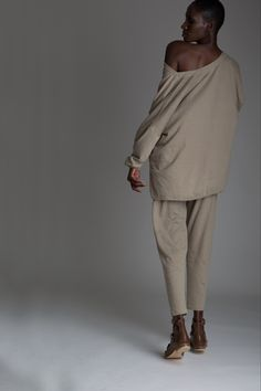 Vintage Issey Miyake Plantation Outfit. Designer Clothing Dark Minimal Street Style Fashion