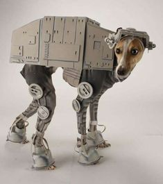 The AT-AT Dog Costume Shows Off Your Pup's Love for Star Wars #petcosplay trendhunter.com