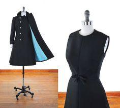 Vintage 1960s Silk Wool Princess COAT & MATCHING by NovaVintage, $498.00