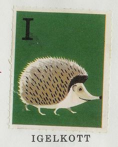 I is for Hedgehog (in Swedish)