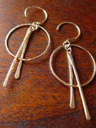 Ray of light gold earrings