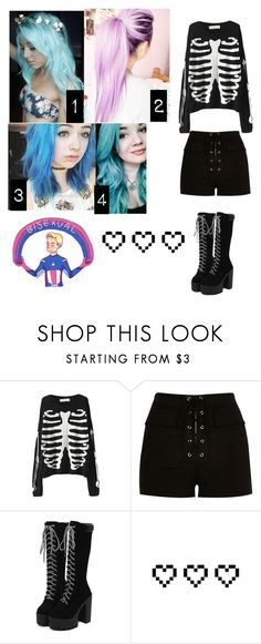 """""""Which way should I do my hair - Jade"""" by killjoy-717 ❤ liked on Polyvore featuring River Island and Retrò"""