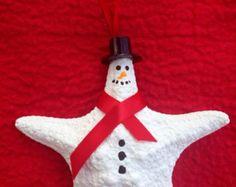 Starfish Snowman Ornament